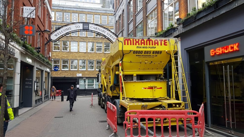 Mixamate delivers to Carnaby Street
